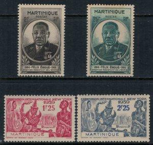 Martinique #186-7,96-7*  CV $4.40