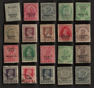 20 CHAMBA (INDIAN STATE) Stamps
