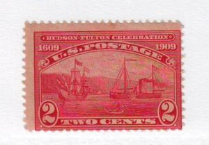 United States Sc372 1909 2 c Hudson-Fulton stamp mint