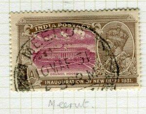 INDIA; POSTMARK fine used cancel on GV issue, Meerut