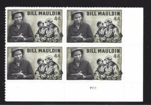 4445 44c BILL MAULDIN - PLATE BLOCK OF 6# S111111 UR - CV*: $8.50 - LOT 430