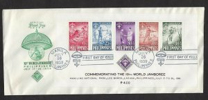 1959 Philippines CB3a SS Boy Scout World Jamb FDC