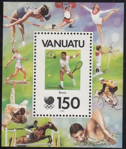 Vanuatu 1988 MNH Sc #484 150v Tennis - 75th Anniversary International Tennis ...