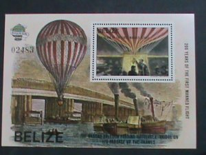 BELIZE-1983   SC # 678  BICENTENARY OF THE FIRST MANNED FLIGHT-   MNH S/S VF