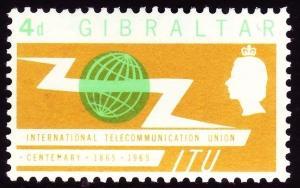 GIBRALTAR SG180, 4d light emerald & yellow, LH MINT.
