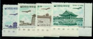 KOREA #C23-6 Complete set Airmails, corner margin singles og, NH, VF Scott $440+