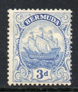 Bermuda 1922 KGV Ship 3d ultramarine wmk MSCA SG 83 mint CV £19