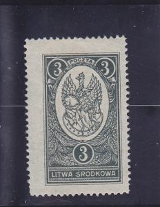 Central Lithuania  Scott#  37  MH