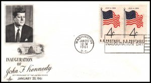 US John F Kennedy Inauguration 1961 Artcraft Cover
