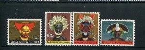 Papua New Guinea MH 253-6 Headdresses 1968