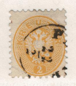 Austria Stamp Scott #22, Used - Free U.S. Shipping, Free Worldwide Shipping O...