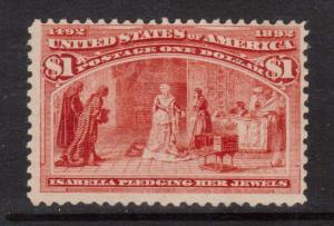 USA #241 NH Mint & Fresh