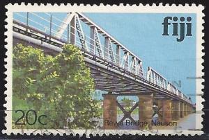 Fiji 418 20c Rewa Bridge used~hinged