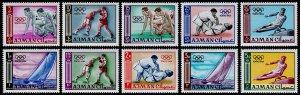 Ajman Scott 27-36 (1965) Mint, NH VF Complete Set, CV $9.00 C