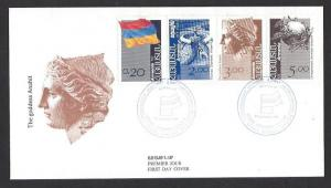 ARMENIA 1992 Issues of Cachet Unaddressed FDC Sc 433, 435-436, 438