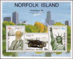 Norfolk Island 1986 SG388 Ameripex '86 MS MNH