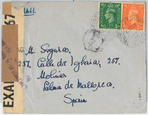 63154 - GB - POSTAL HISTORY -  CENSORED COVER to SPAIN 1944