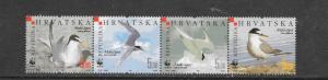 BIRDS - CROATIA  WWF #621  MNH