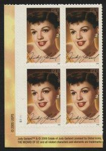 US 4077 Judy Garland Plate Block  MNH