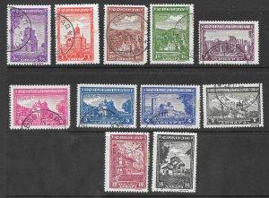Serbia Scott #2N31-2N41 Used German Occupation stamps  2017 CV $18.80