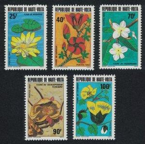 Upper Volta Flowers 5v 1982 MNH SG#639-643 MI#871-875