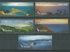 2013  NEW ZEALAND  SG: 3489/93 - COASTLINES SET - USED