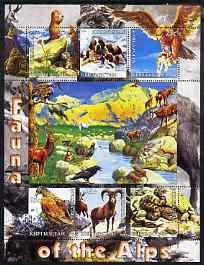 Kyrgyzstan 2004 Fauna of the World - Alps perf sheetlet c...