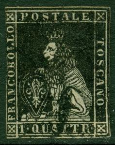 EDW1949SELL : ITALIAN STATES Tuscany 1857 Scott #10 VF, Used. Nice Cat $1,150.00
