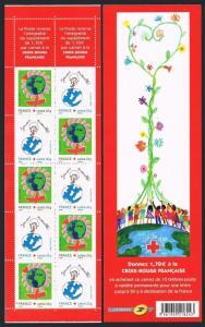France B711-B712a booklet,MNH. Red Cross 2006.Children's art.