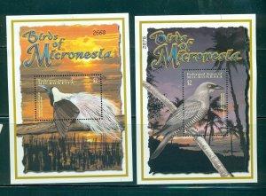 Micronesia - Sc# 467-8. 2001 Birds. Set of 2 Souv. Sheets. MNH $8.00.
