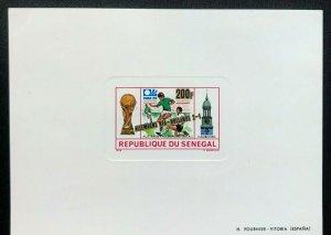 Senegal 1974 Football Munich Block Carton UNCV