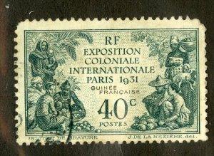 FRENCH GUINEA 116 USED SCV $4.75 BIN $2.25 EXPO