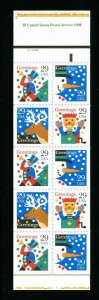 BK212 2795 - 2798 Christmas Booklet of 20 29¢ Stamps