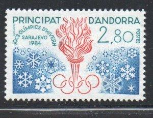 Andora (Fr) Sc  321 1984 WInter Olympics stamp mint NH