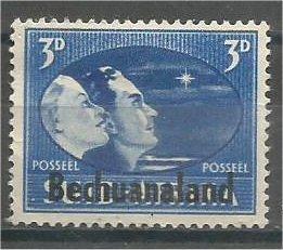 BECHUANALAND, 1945, MNH 3p, Peace Issue, Scott 139a