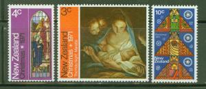 New Zealand Scott 481-3 MH* Christmas 1971 stamp
