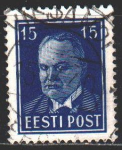 Estonia. 1940. 158 W. President P?ts, standard. USED.