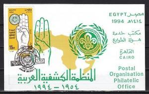 Egypt, Scott cat. 1552. Arab Scouts Anniv. Postal Bulletin w/Stamp & Cancel. ^