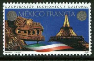 MEXICO 2105, Mexico-France Cultural Cooperation. MINT, NH. F-VF. (69)