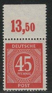 Germany AM Post Scott # 550, mint nh, var. flat press print