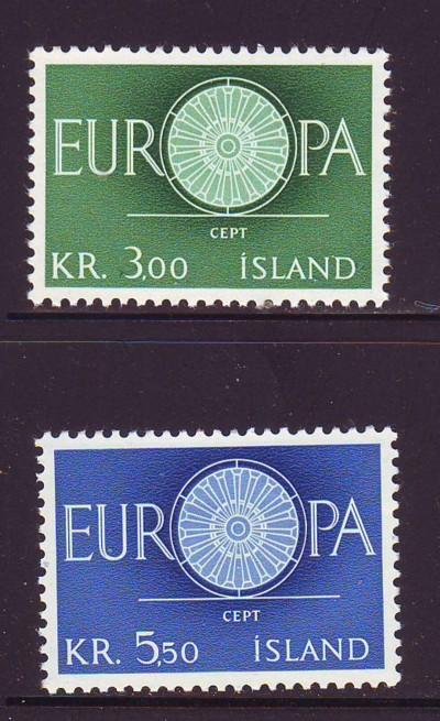 Iceland Sc 327-8 1960  Europa  stamp set mint NH