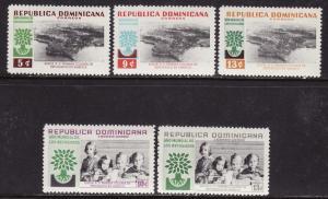 Dominican Republic #522-24, C113-14 F-VF Mint NH ** Refugee
