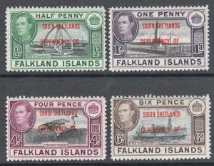 Falkland Islands South Shetlands KGVI 1944 Set SGD1-8 Mint Never Hinged MNH UMM