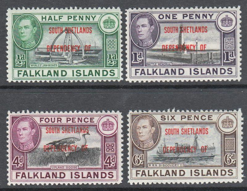 Falkland Islands South Shetlands KGVI 1944 Set SGD1-8 Mint Never Hinged MNH UMM