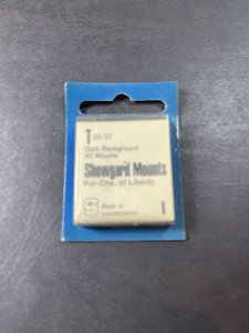 SHOWGUARD MOUNTS-T---25 x 27---PRE-CUT--40 PACK--DARK BACKGROUND--NEW-OLD STOCK