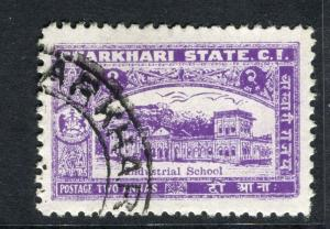 INDIA;  CHARKHARI 1931 early pictorial issue fine used 2a. value