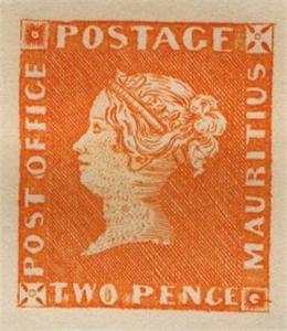 Mauritius stamp #1,#2 Reprint original plate Orange sheetlet - RARE
