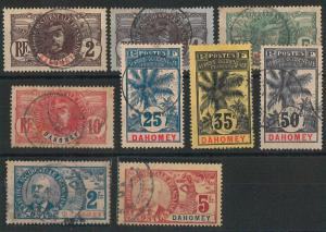 55010 -   FRENCH COLONIES:  DAHOMEY - STAMPS:  YVERT 18/32  Used - VERY FINE!!