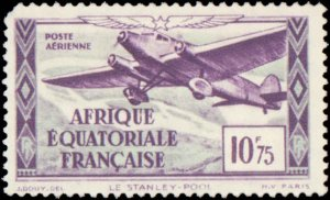 French Equatorial Africa #C1-C8, Complete Set(8), 1937, Airplanes, Hinged