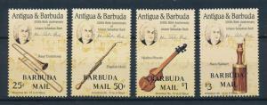 [95062] Barbuda 1986 Music Bach Musical Instruments OVP Barbuda Mail MNH